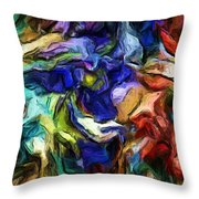 Abstract 082713b Throw Pillow
