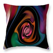 Abstract 100913 Throw Pillow