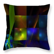 Abstract 101413 Throw Pillow