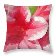 Abstract 106 Pink Painterly Flowers Throw Pillow