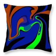 Abstract 124 Throw Pillow