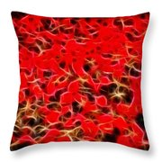 Abstract 124 Red Flowers Throw Pillow