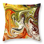 Abstract 127 Throw Pillow by Carol Sullivan