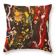 Abstract 13 - Life On The Ocean Floor Throw Pillow