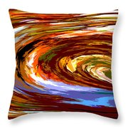 Abstract #140814 - Inside The Pipeline Throw Pillow