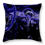 Abstract 1955 Chevy Bel Air  Throw Pillow