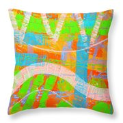 Abstract  23614   Diptych  I  Throw Pillow