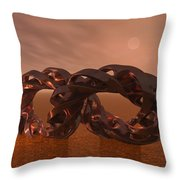 Abstract 331 A 3d Copper Sculpture Throw Pillow