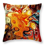 Abstract 351-07-13 Marucii Throw Pillow by Marek Lutek