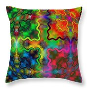 Abstract 42 Throw Pillow