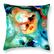 Abstract 5 - Abstract Art By Sharon Cummings Throw Pillow