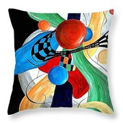 Abstract 525-11-13 Marucii Throw Pillow
