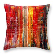Abstract 7 Throw Pillow