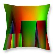 Abstract A018 Throw Pillow