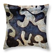 Abstract Alpha Throw Pillow