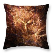 Abstract Angels Burning Sepia Throw Pillow