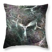 Abstract Angels White Portrait Throw Pillow
