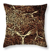 Abstract Angels Woodcut Throw Pillow