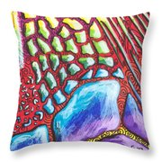Abstract Animal Print Throw Pillow