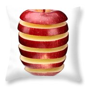 Abstract Apple Slices Throw Pillow