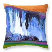 Abstract Arizona Mountains At Icy Dawn Throw Pillow