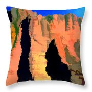 Abstract Arizona Mountains At Sunset Throw Pillow