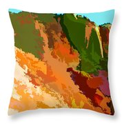 Abstract Arizona Mountains In The Afternoon  Throw Pillow