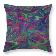 Juncture - Abstract Art Throw Pillow