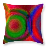 Separate Yet Together - Abstract Art  Throw Pillow