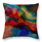 Intrigued - Abstract Art  Throw Pillow