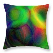 Journey - Square Abstract Art  Throw Pillow