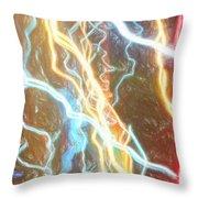 Light Painting - Abstract Art 2 Throw Pillow