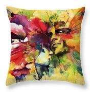 Abstract Art Throw Pillow by Catf