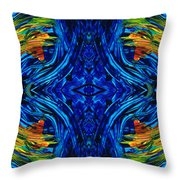 Abstract Art - Center Point - By Sharon Cummings Throw Pillow