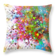 abstract art COLOR SPLASH on Square Throw Pillow