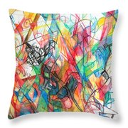 Abstract Art Focused Inward Towards The Divine 4 Throw Pillow
