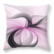 Abstract Art Fractal With Pink Throw Pillow