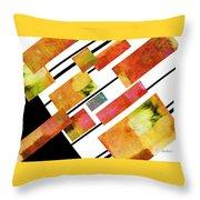 abstract art Homage to Mondrian Throw Pillow