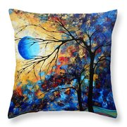 Abstract Art Landscape Metallic Gold Textured Painting Eye Of The Universe By Madart Throw Pillow