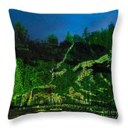 Abstract Art Nature Scenery Throw Pillow