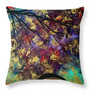 Abstract Art Original Landscape Painting Go Forth IIi By Madart Studios Throw Pillow