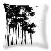 Abstract Art Original Landscape Pattern Painting By Megan Duncanson Throw Pillow by Megan Duncanson