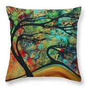 Abstract Art Original Landscape Wild Abandon By Madart Throw Pillow