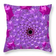 Abstract Art Radiant Orchid Pink Purple Violet Throw Pillow