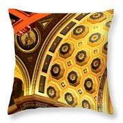 Architectural Abstract At Basilica Throw Pillow