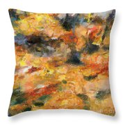 Abstract Autumn 1 Throw Pillow