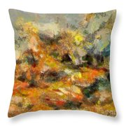 Abstract Autumn 2 Throw Pillow