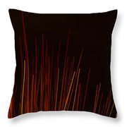 Abstract Background Of Red Sticks Throw Pillow