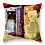Abstract Barn Base Throw Pillow