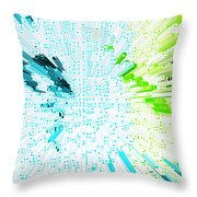 Abstract - Be Happy Throw Pillow by Natalie Kinnear